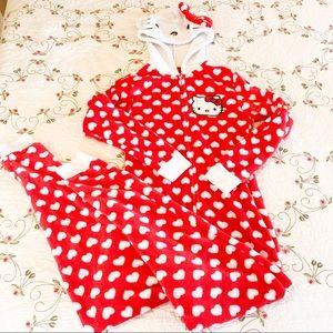 Hello Kitty hooded pajamas